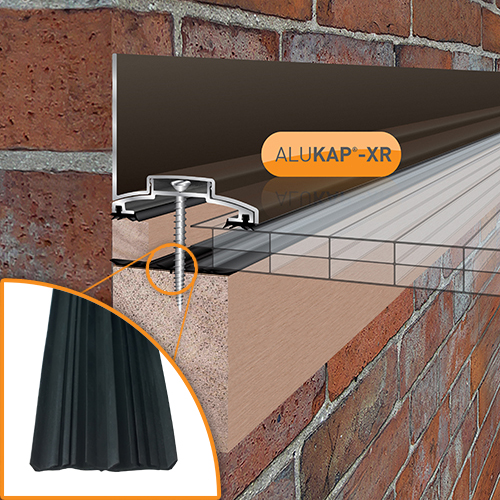 Alukap-XR 60mm Wall Bar 4.8m 45mm RG BR Alu E/Cap Image 2