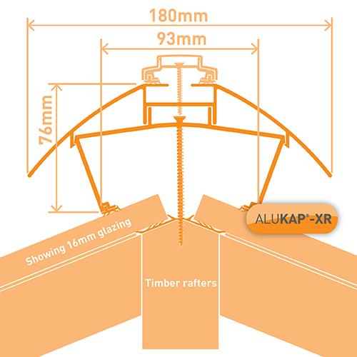 Alukap-XR Ridge 3m 45mm RG BR Image 3