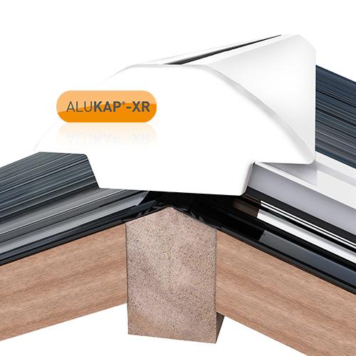 Alukap-XR Ridge Gable End Plate White Image 2