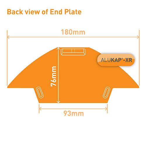 Alukap-XR Ridge Gable End Plate White Image 3