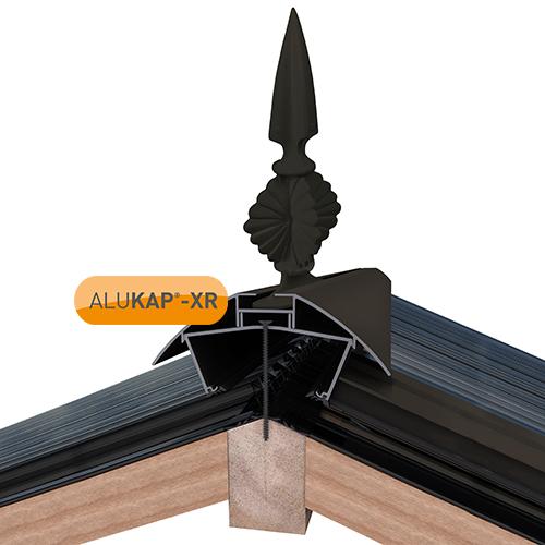 Alukap-XR Aluminium Finial Brown Image 2