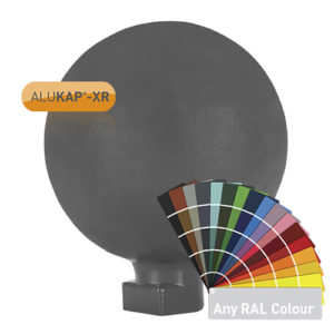 Alukap-XR 150mm Ball Finial Powder Coated