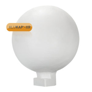 Alukap-XR 150mm Ball Finial White