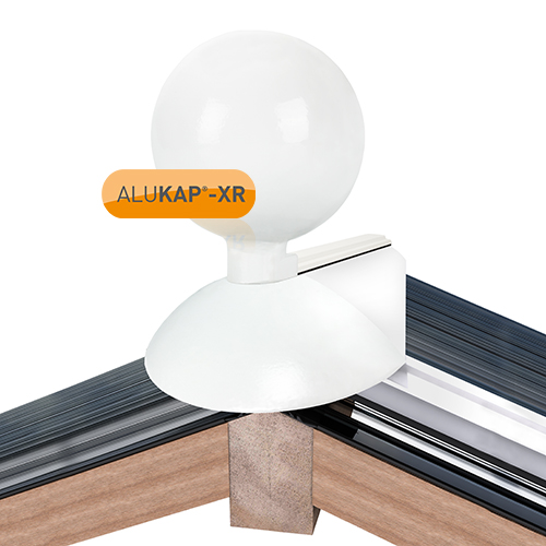 Alukap-XR 150mm Ball Finial White Image 2