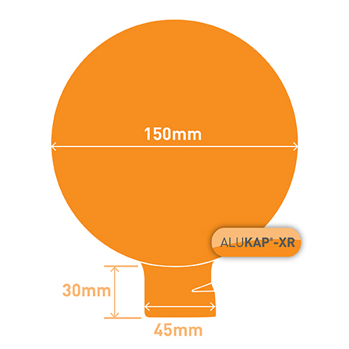 Alukap-XR 150mm Ball Finial White Image 3