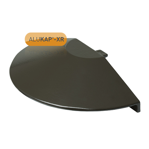 Alukap-XR Roof Lantern Radius End Cap Brown