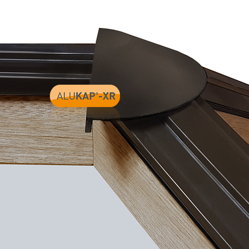 Alukap-XR Roof Lantern Radius End Cap Brown Image 2