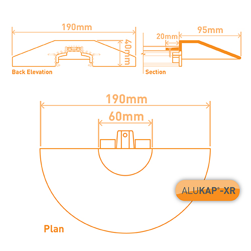 Alukap-XR Roof Lantern Radius End Cap Brown Image 3