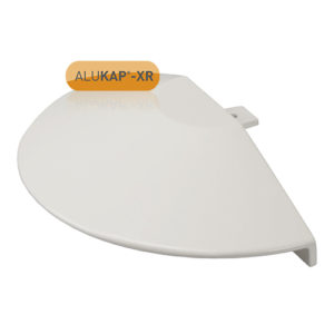 Alukap-XR Roof Lantern Radius End Cap White