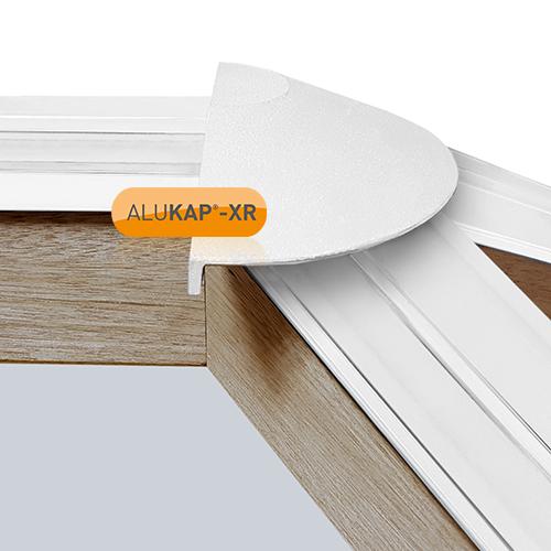 Alukap-XR Roof Lantern Radius End Cap White Image 2