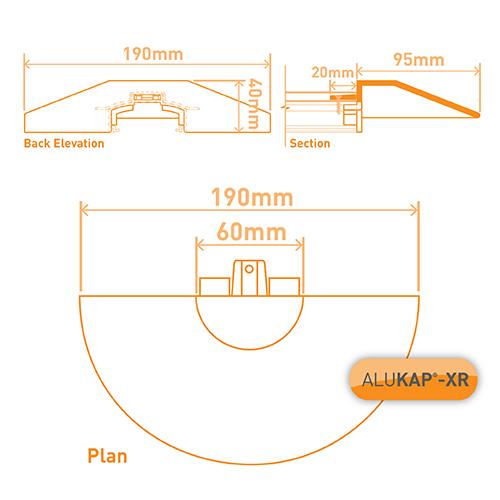 Alukap-XR Roof Lantern Radius End Cap White Image 3