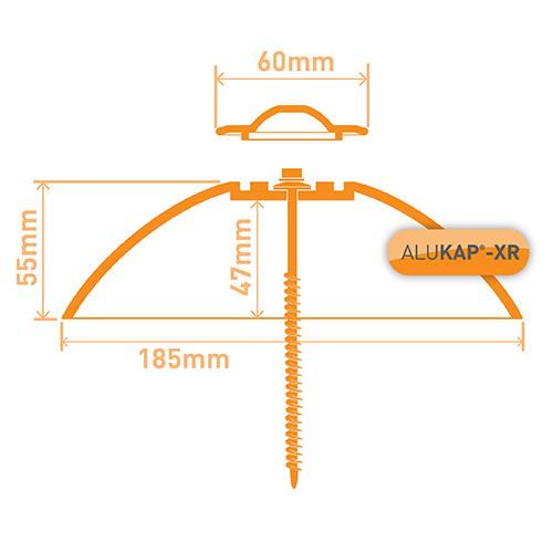 Alukap-XR Roof Lantern Pinnacle Top Cap White Image 3