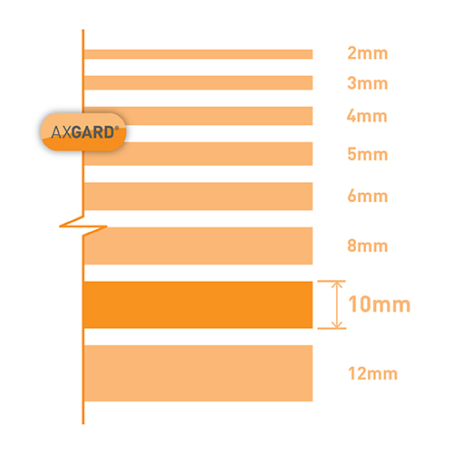 Axgard Clear 10mm UV Protect Polycarb 500 x 1000mm Image 3