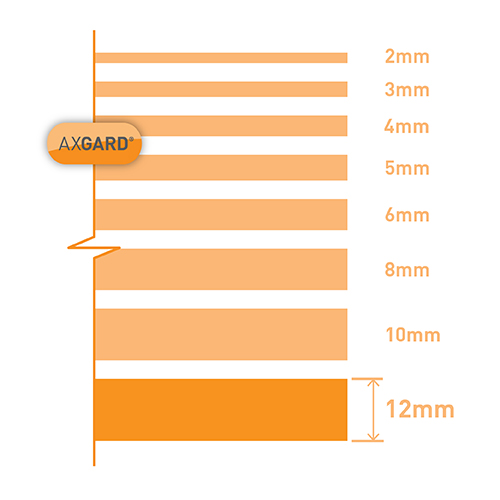 Axgard Clear 12mm UV Protect Polycarb 500 x 1000mm Image 3