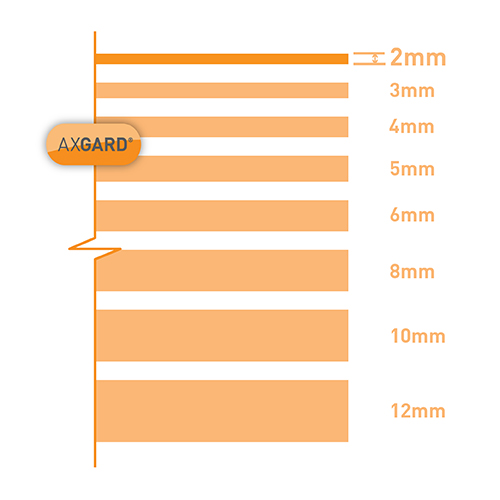 Axgard Clear 2mm UV Protect Polycarb 1250 x 1240mm Image 3