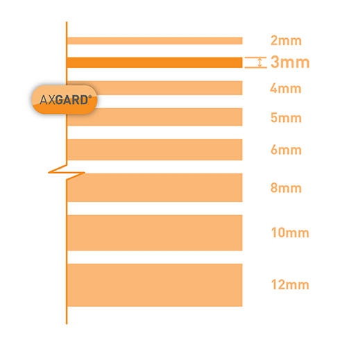 Axgard Clear 3mm UV Protect Polycarb 500 x 1500mm Image 3