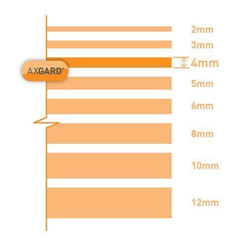 Axgard Patternd 4mm UV Prtc Polycarb 1000 x 500mm Image 3