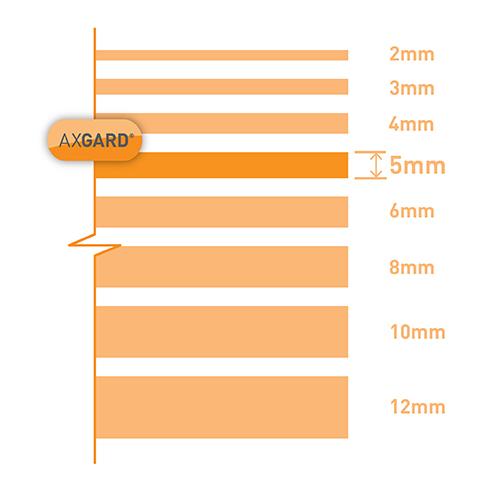 Axgard Bronze 5mm UV Prtc Polycarb 500 x 1500mm Image 3