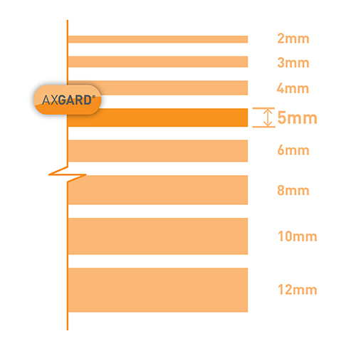 Axgard Clear 5mm UV Protect Polycarb 500 x 1500mm Image 3