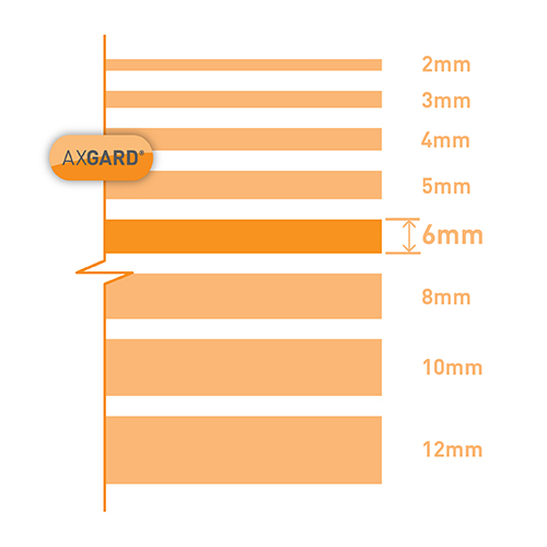 Axgard Clear 6mm UV Protect Polycarb 500 x 1000mm Image 3