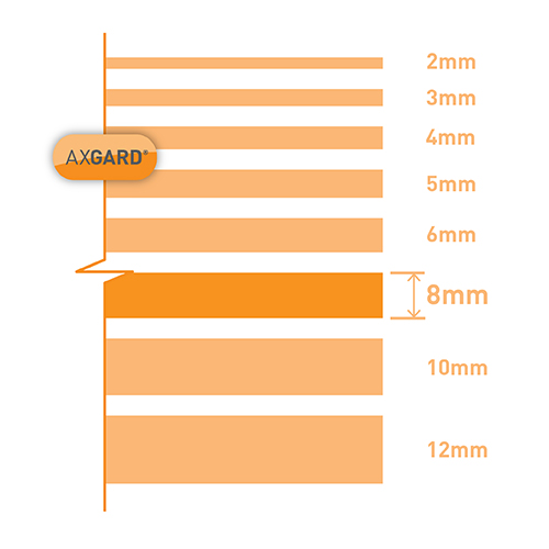 Axgard Clear 8mm UV Protect Polycarb 500 x 2000mm Image 3