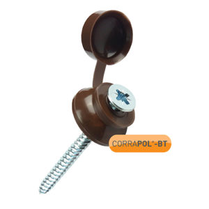 Corrapol-BT Brown 60mm Screw Cap Fixings (Pack Of 50) - NEW