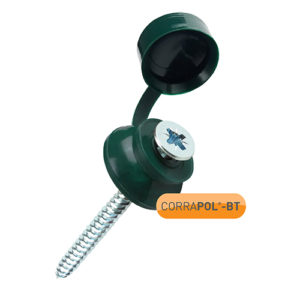 Corrapol-BT Green 60mm Screw Cap Fixings (Pack Of 50) - NEW