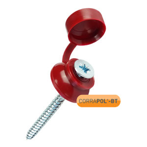 Corrapol-BT Red 60mm Screw Cap Fixings (Pack Of 50) - NEW