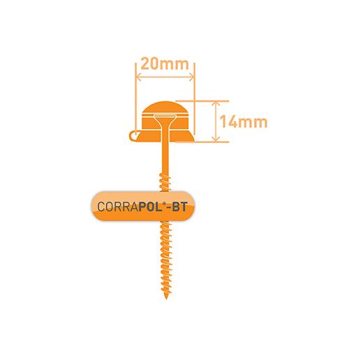 Corrapol-BT Red 60mm Screw Cap Fixings (Pack Of 50) - NEW Image 3