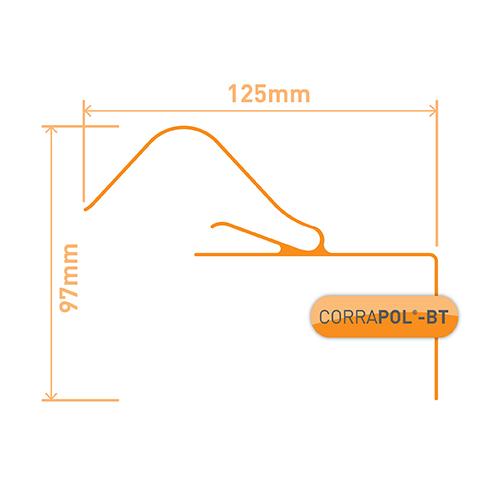 Corrapol-BT Rigid Rock n Lock Side Flashing 2m Black Image 3