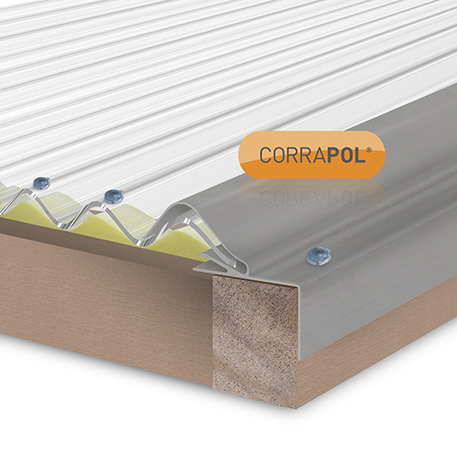 Corrapol Rigid Rock n Lock Side Flashing 3m Mill Image 2