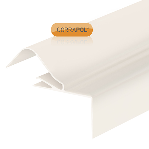 Corrapol Rigid Rock n Lock Side Flashing 3m White