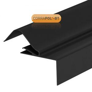 Corrapol-BT Rigid Rock n Lock Side Flashing 6m Black