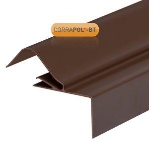 Corrapol-BT Rigid Rock n Lock Side Flashing 6m Brown