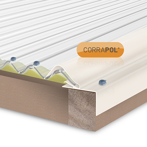 Corrapol Rigid Rock n Lock Side Flashing 6m White Image 2